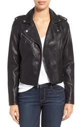 Women's Levi's Faux Leather Moto Jacket Black