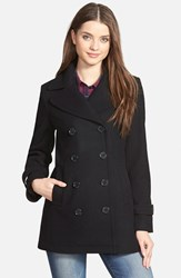 Petite Women's Kristen Blake Wool Blend Peacoat Black