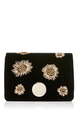 Aerin Small Clutch With Disk Closure Black