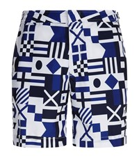 Polo Ralph Lauren Aztec Print Swim Shorts Male Blue