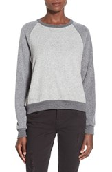 Junior Women's Project Social T Colorblock Pullover Black Heather Grey