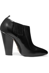 Michael Kors Collection Lacy Leather Ankle Boots Black