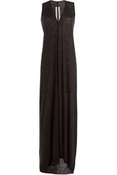 Rick Owens Cashmere Silk Maxi Dress Grey