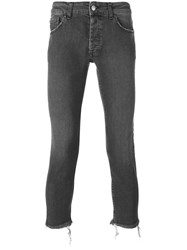Palm Angels Kill Cropped Jeans Men Cotton Polyester Spandex Elastane 30 Grey
