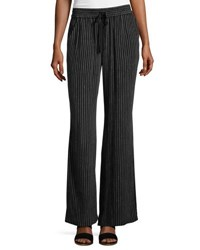 Joie Aryn Metallic Stripe Drawstring Pants Black