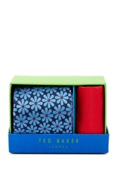 Ted Baker Gemma Botanical Silk Tie And Handkerchief Multi