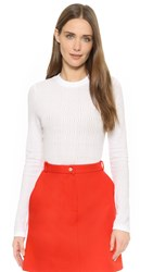 Carven Long Sleeve Top White