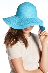 14Th And Union Solid Floppy Knit Paper Brim Hat Blue