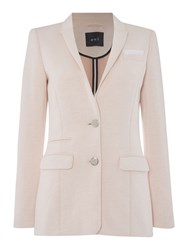 Oui Plain Fitted Blazer Pale Pink