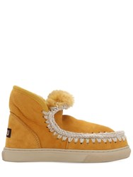 Mou 20Mm Mini Eskimo Shearling Boots Orange