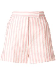 Thom Browne Wide Bar Stripe Mini Short Pink