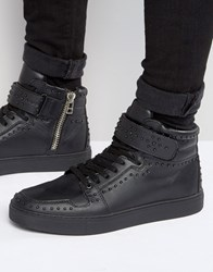 Kg By Kurt Geiger Anderson Studded Leather Trainers Black