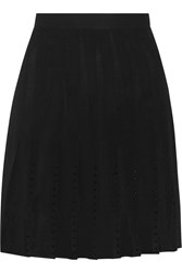 Sandro Josiane Pleated Chiffon Mini Skirt Black