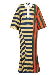 Loewe Striped Cotton Rugby Shirtdress Red Multi