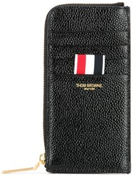Thom Browne Zipped Leather Wallet Black