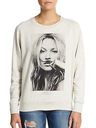 Eleven Paris Moustache Kate Graphic Sweatshirt Melange
