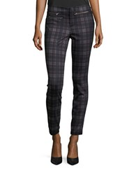 Design Lab Lord And Taylor Plaid Knit Pants Red Black