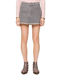 Zadig And Voltaire Juice Denim Skirt In Gray 100 Exclusive 9413923ae