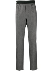 Helmut Lang Elasticated Waistband Tailored Trousers Grey