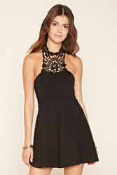 Forever 21 Crochet Halter A Line Dress
