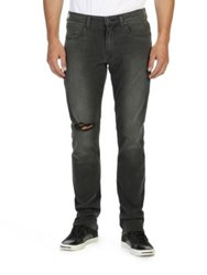 Paige Lennox Slim Fit Jeans Grey Iron Destructed