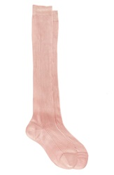 Maria La Rosa Knee High Silk Socks Pink