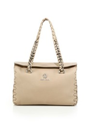 Roberto Cavalli Regina Leather Satchel Sand