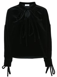 Osman Double Tie Longsleeved Blouse Black