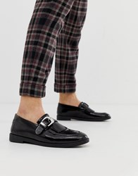 House Of Hounds Archer Buckle Loafers In Black