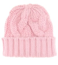 Ganni Brooks Knitted Baby Alpaca Blend Beanie Pink