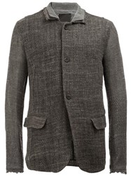 Lost And Found Ria Dunn Double Collar Jacket Grey