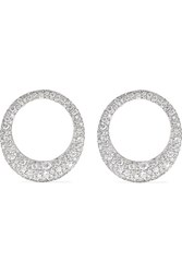 Anita Ko Large Galaxy 18 Karat White Gold Diamond Earrings One Size