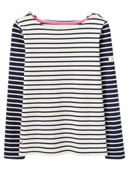 Joules Harbour Printed Stripe Jersey Top Cream Hotch Potch