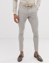 Selected Homme Skinny Suit Trouser In Sand Beige