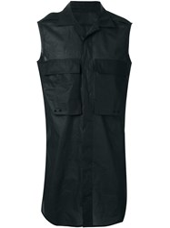 Rick Owens Sleeveless Shirt Black