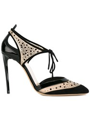 Giorgio Armani Cut Out Pumps Black