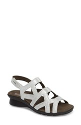 Mephisto Pamela Sandal Silver Leather