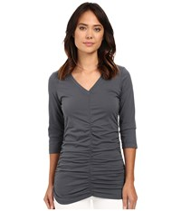 Xcvi Mission V Neck Charcoal Women's Clothing Gray
