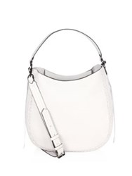 Rebecca Minkoff Unlined Convertible Leather Hobo Bag Putty