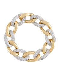 Diana M. Jewels 18K Two Tone Diamond Link Bracelet