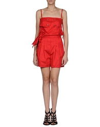 Miss Sixty Short Overalls Red