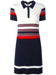 Rag And Bone Striped Polo Dress White
