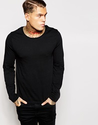 Asos Long Sleeve T Shirt With Scoop Neck Black