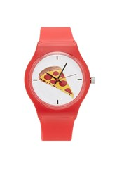 Forever 21 Pizza Graphic Analog Watch