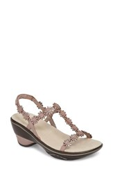 Jambu Cybill Sandal Rose Gold Metallic Leather