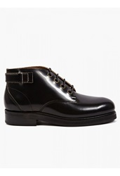 Purified Mens Black Pavement 2 High Shine Leather Boots