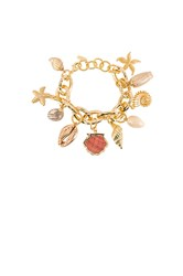 Ettika Shell Bracelet Metallic Gold