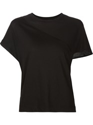 Alexandre Plokhov Split Sleeve T Shirt Black
