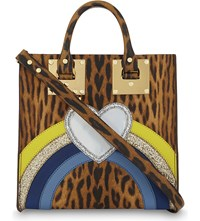 Sophie Hulme Square Albion Tote Leopard