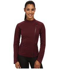 Asics Tier One Jacket Rouge Noir Women's Workout Brown